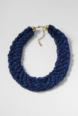 Women's Braided Bead Necklace from Lands' End