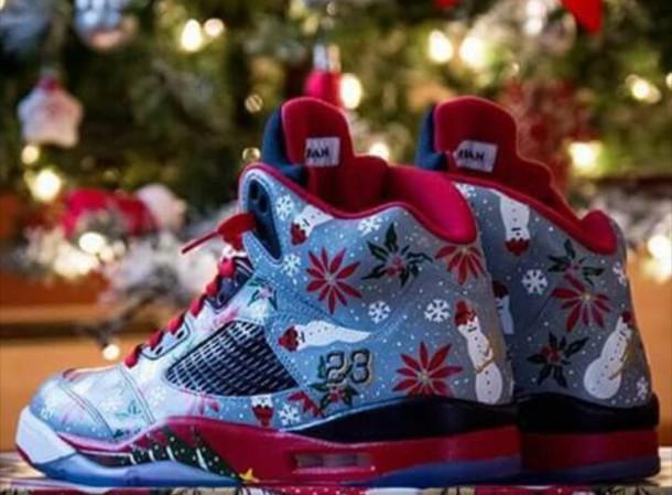 Shoes Jordans Snowman Custom Shoes Snowflake Wheretoget