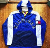 jacket,tommyhilfigure,blue,windbreaker,tommy hilfiger windbreaker,royal blue