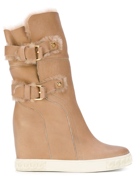 CASADEI snow boots women snow nude shoes