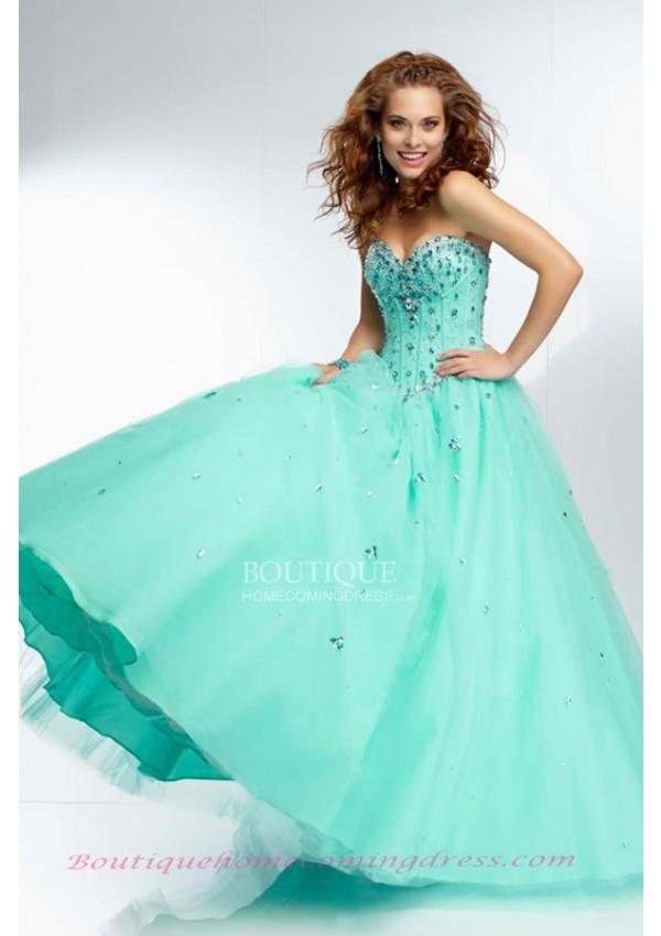 Ball gown sleeveless floor length quinceanera dress