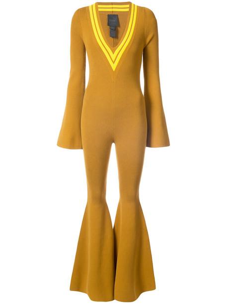 Fenty x Puma jumpsuit women cotton yellow orange