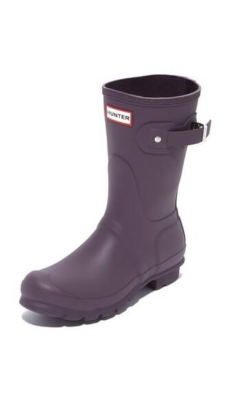 short boots purple shoes