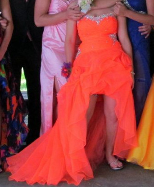 dress orange prom prom dress homecoming orange dress hi low dresses hi low prom dress homecoming dress