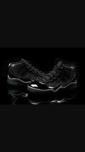 shoes,jordans concord 11,black jordans,high top sneakers,jordans