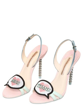 glitter sandals leather sandals leather pink shoes