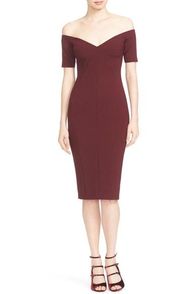 Cinq à Sept 'Jolie' Off the Shoulder Sheath Dress | Nordstrom