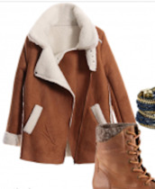 coat,clothes,jacket,brown,winter outfits,warm,shearling,white,fur,suede,suede jacket,suede coat