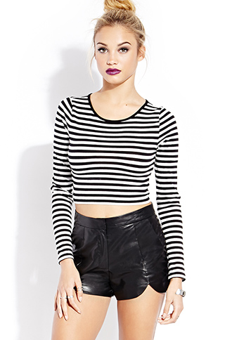 Femme Faux Leather Shorts | FOREVER21 - 2000087783