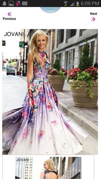 dress floral dress high neck