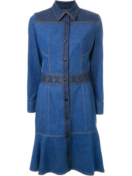 Alexander Mcqueen dress denim dress denim women spandex cotton blue