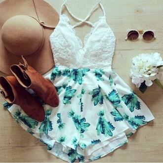 romper white and blue skirt white skirt