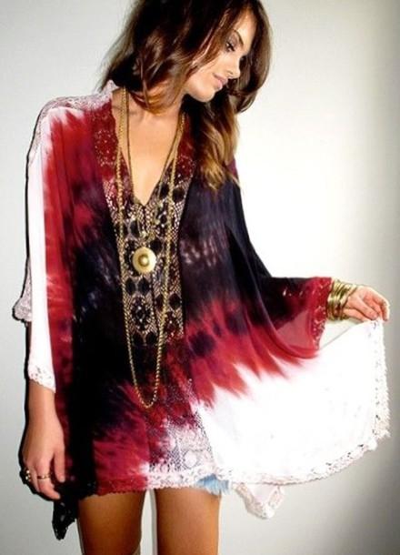 Dress boho dress tye dye dress tie dye boho - Wheretoget