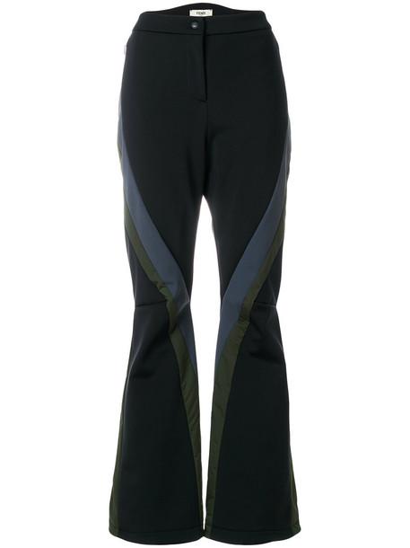 Fendi women spandex black pants