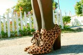 leopard print,brown shoes,orange shoes,shoes