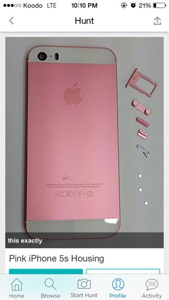 phone cover pink iphone housing complete