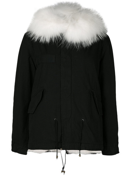 Mr & Mrs Italy parka fur fox women cotton black coat