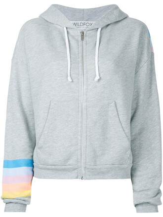 hoodie women cotton grey sweater