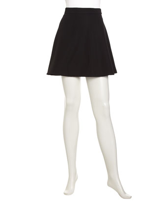Romeo & Juliet Couture Knit Circle Skirt, Black - Neiman Marcus Last Call