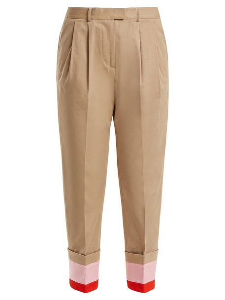 Preen Line cropped cotton beige pants