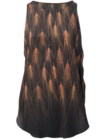 shirt tee top black 3.1 phillip lim wheat print vest wheat