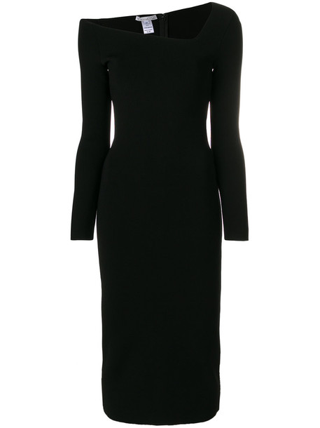 oscar de la renta dress midi dress women midi black