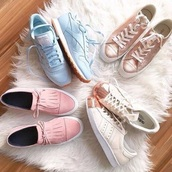 shoes,pink shoes,blue,sneakers,rose gold,white