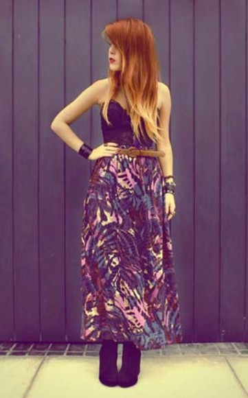skirt long skirt purple yellow luanna perez luanna90