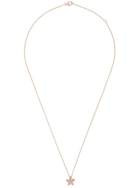 rose gold rose women necklace pendant gold grey metallic jewels