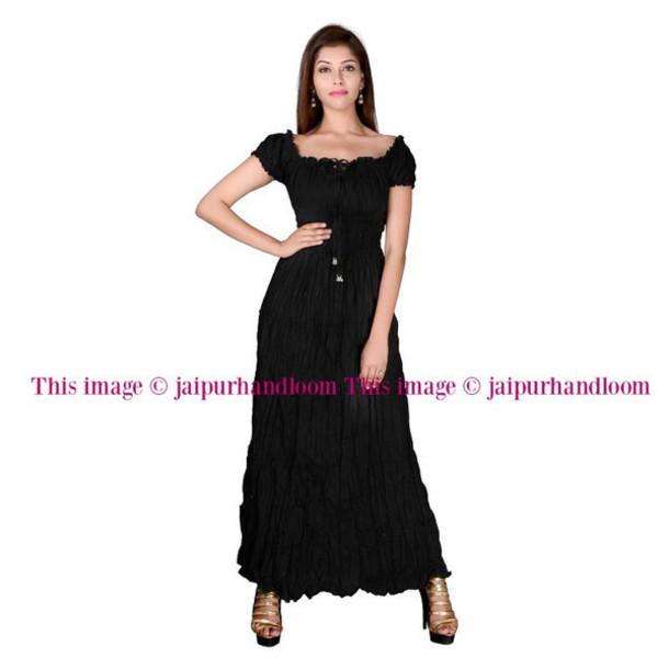 Dress Women Maxi Long Gown Maxi Dress Black Dress Wedding