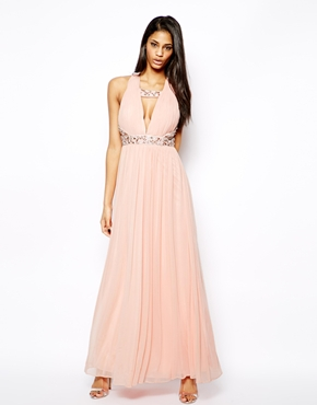 hot-selling fashion best deals on shop for original Forever Unique | Forever Unique Plunge Neck Maxi Dress with ...
