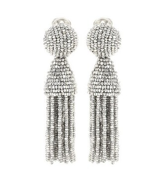 tassel earrings silver jewels