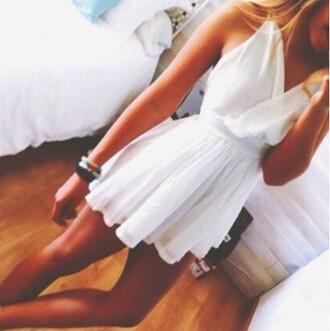 chiffon dress wrap dress white dress grecian dress
