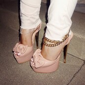 shoes,peep toe heels,peep toe sandals,high heels,plateau high heels,platform high heels,nude high heels,nude,lanyard,sexy,cute,rose,pink nude,sexy pumps,peep toe pumps,baby pink high heels,baby pink,cute high heels,bow heels,bow high heels,ankle strap heels,pink,open toes,platform pumps,bow,salmon,heels
