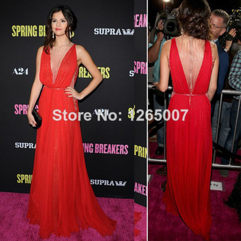 Aliexpress.com : buy selena gomez new arrival long sleeves beaded see through top high slit a line celebrity dresses from reliable celebrity style prom dress suppliers on sfbridal