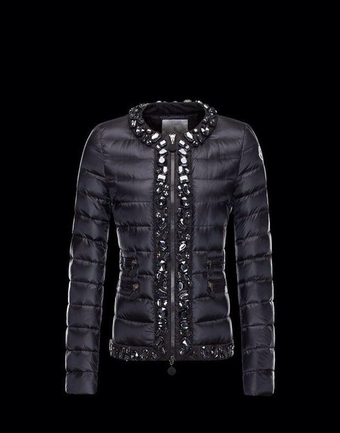 jacket moncler strass down jacket black jacket