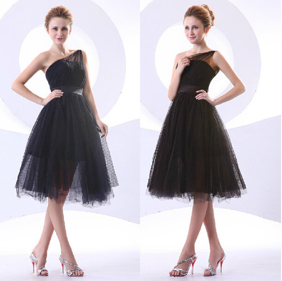 ball gown black homecoming dress