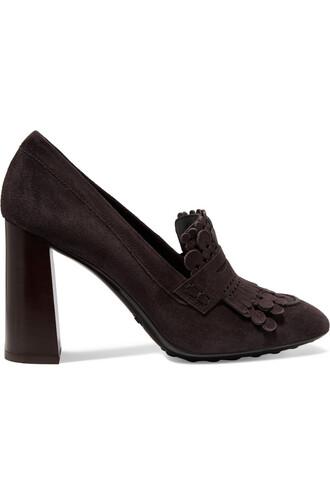 suede pumps pumps suede dark brown shoes