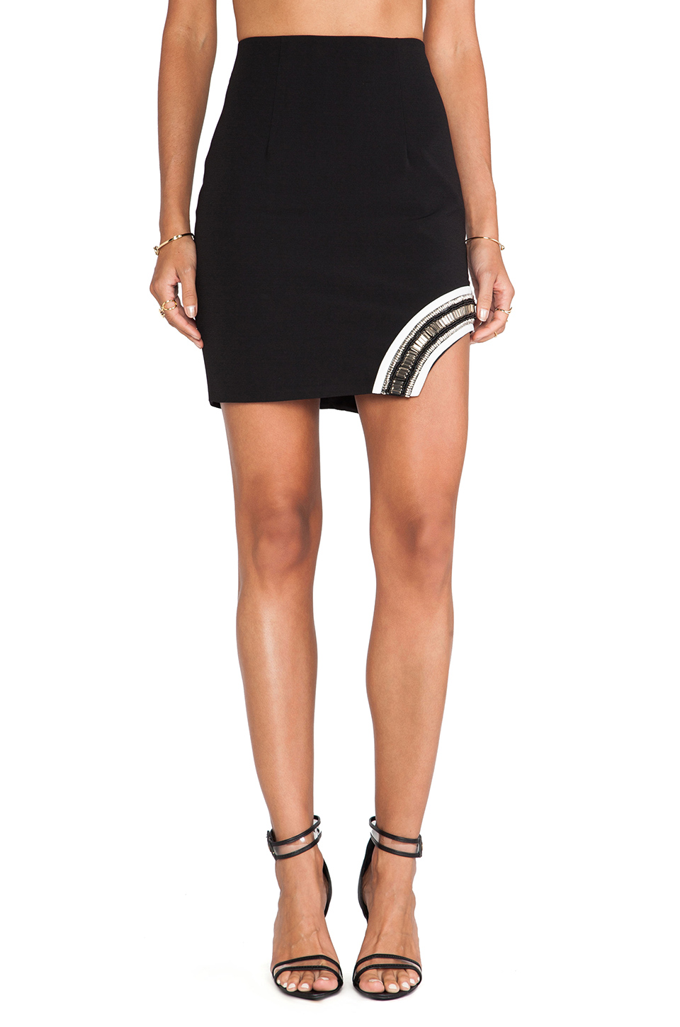 Lumier The Path Of Glory Mini Skirt in Black & White from REVOLVEclothing.com