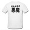 Hanzo t shirt back