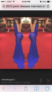 dress,royalblue dress,backout,prom dress