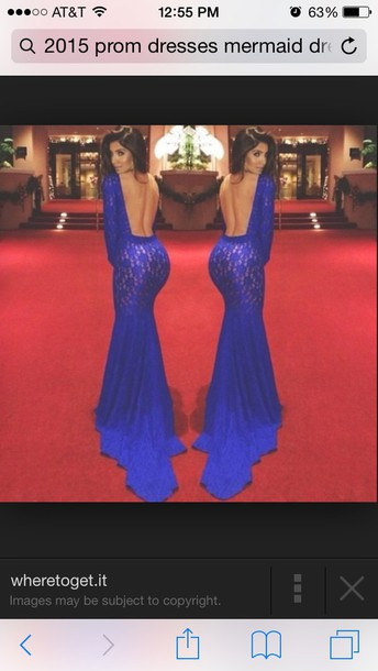 dress royalblue dress backout prom dress