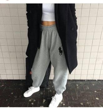 pants ralph lauren grey polo shirt ralph lauren femme