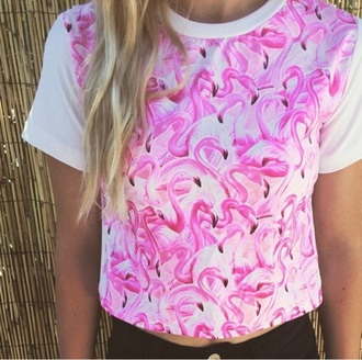 shirt pink boho girly apparel gypsy flamingo blonde hair style fashion clothingline women t shirts urban igers pretty fall outfits surf hippie cute top