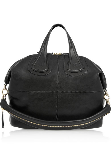 Medium nightingale bag in black leather