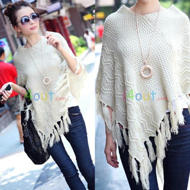 Women Fringe Scarf Cardigan Jacket