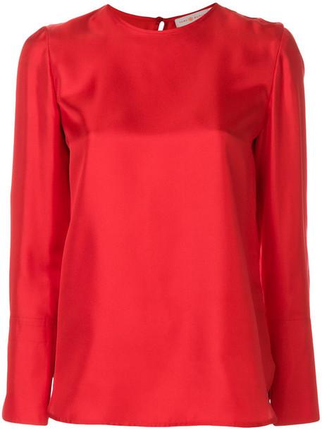 top women silk red
