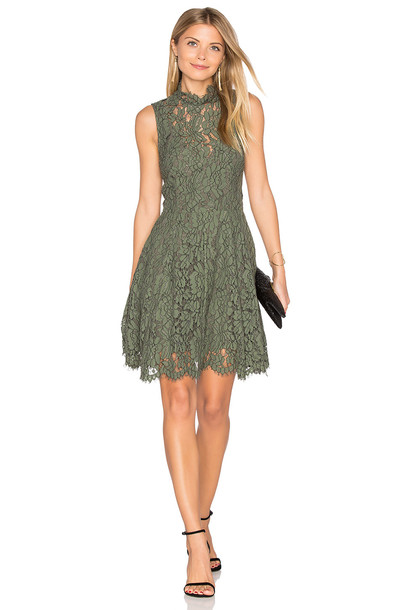 Keepsake dress mini dress mini lace green