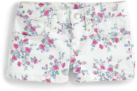 Ralph Lauren Toddlers Little Girls Floral Denim Shorts in Floral (white multicolor) | Lyst