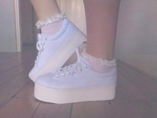 shoes pastel grunge platform shoes